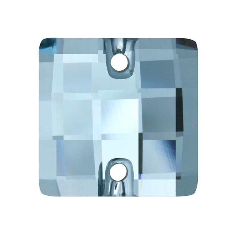 12MM Aquamarine F (202) 3293 Chessboard SWAROVSKI ELEMENTS