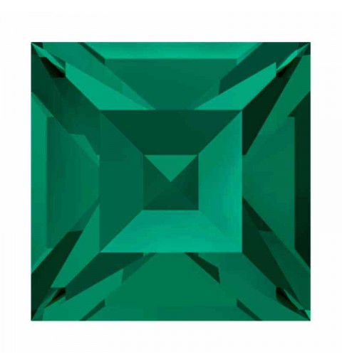 8mm Emerald F (205) Square 4428 Fancy Stone Swarovski
