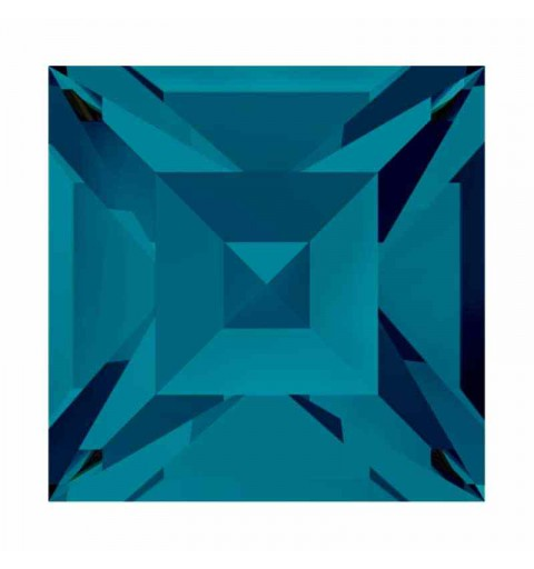 8mm Indicolite F (379) Square 4428 Fancy Stone Swarovski