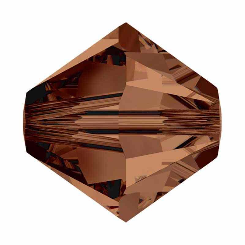 3MM Smoked Topaz (220) 5328 XILION Bi-Cone Beads SWAROVSKI