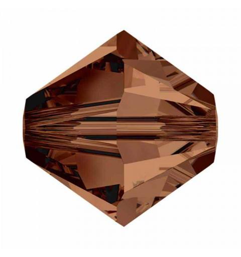 6MM Smoked Topaz (220) 5328 XILION Bi-Cone Beads SWAROVSKI