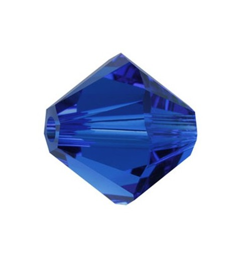 6MM Capri Blue 5328 XILION Bi-Cone SWAROVSKI ELEMENTS