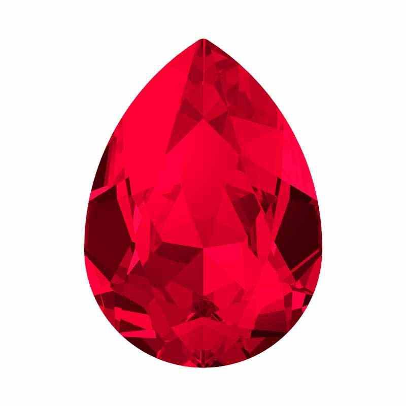 18x13mm Scarlet F (276) Poire Fancy Cristal 4320 de Swarovski