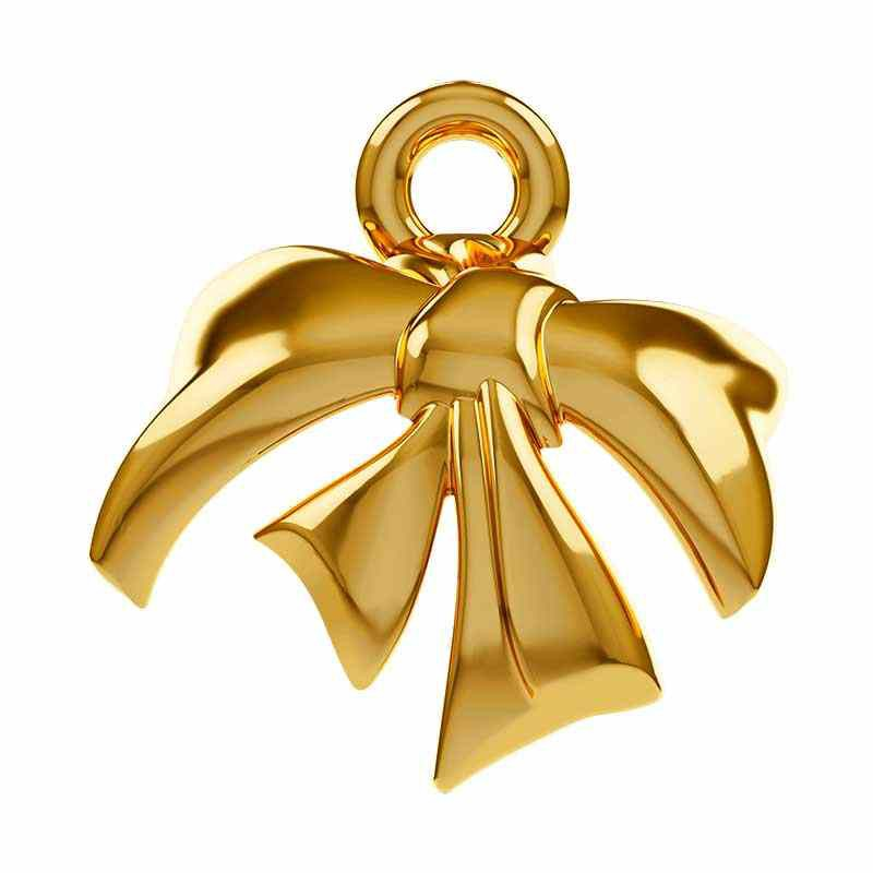 10mm Gold Plated Metal Bow 58M001 Swarovski