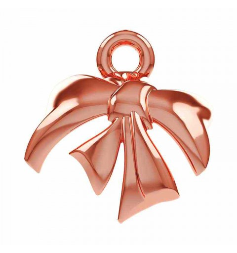 8mm Rose Gold Plated Metal Bow 58M001 Swarovski