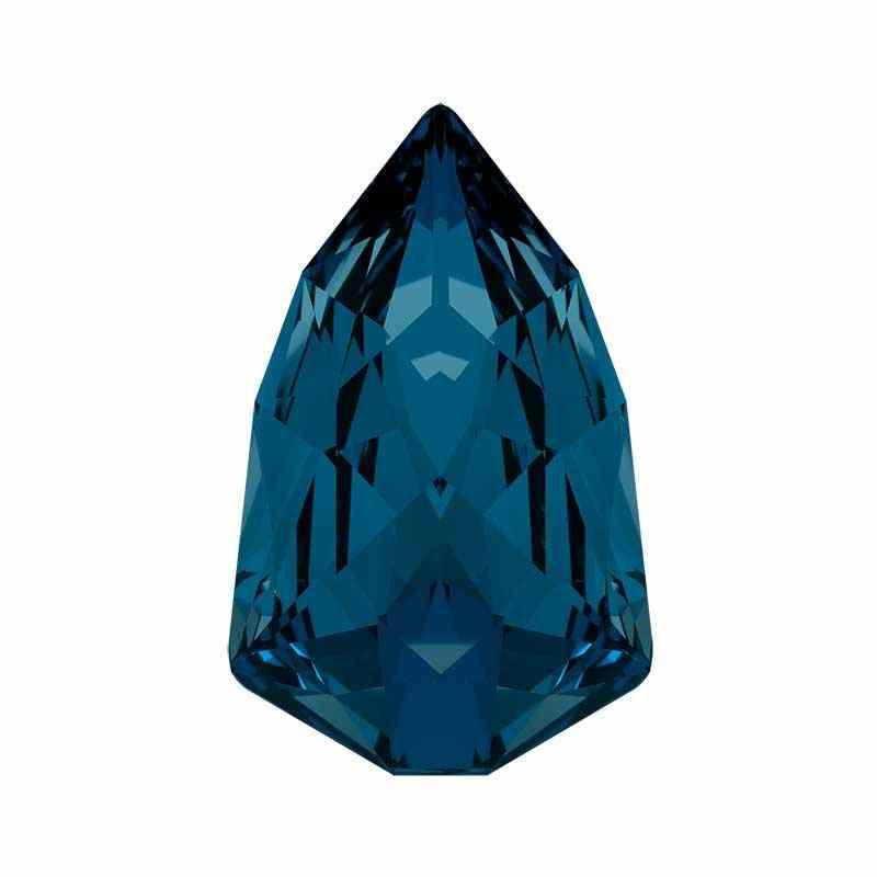 18.7x11.8mm Montana F (207) Slim Trilliant Fancy Stone 4707 Swarovski Crystal