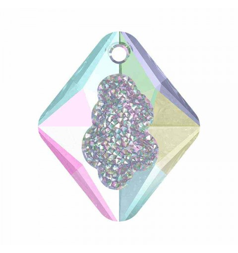 26MM Crystal AB (001 AB) Growing Cr. Rhombus Pendentif 6926 SWAROVSKI