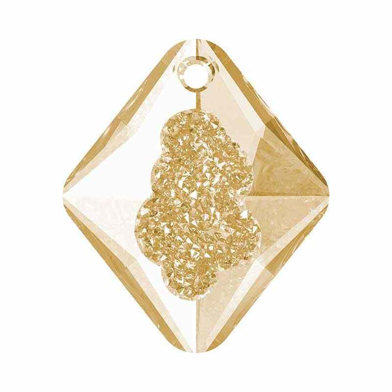 26MM Crystal Golden Shadow (001 GSHA) Growing Cr. Rhombus Pendant 6926 SWAROVSKI