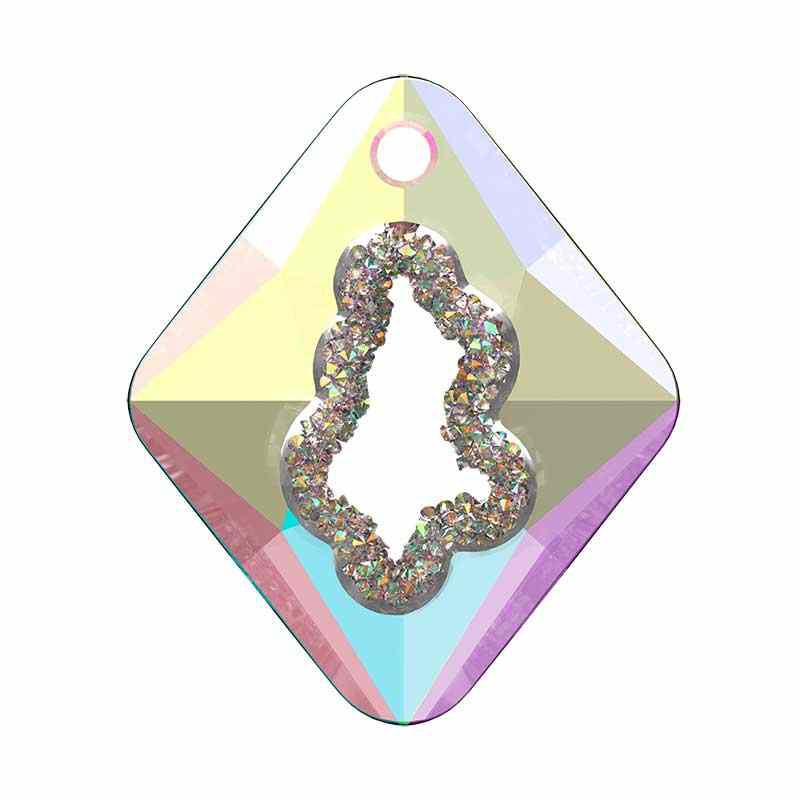 36MM Crystal AB (001 AB) Growing Cr. Rhombus Pendant 6926 SWAROVSKI