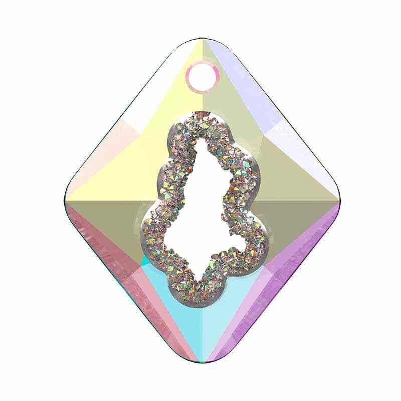 36MM Crystal AB (001 AB) Growing Cr. Rhombus Pendentif 6926 SWAROVSKI