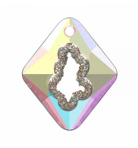 36MM Crystal AB (001 AB) Growing Cr. Rhombus Pendant 6926 SWAROVSKI