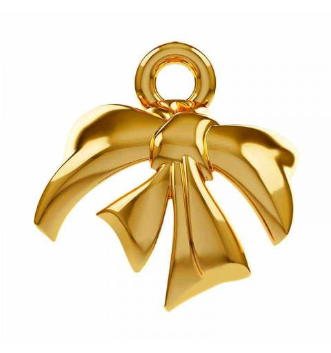 8mm Gold Plated Metal Bow 58M001 Swarovski