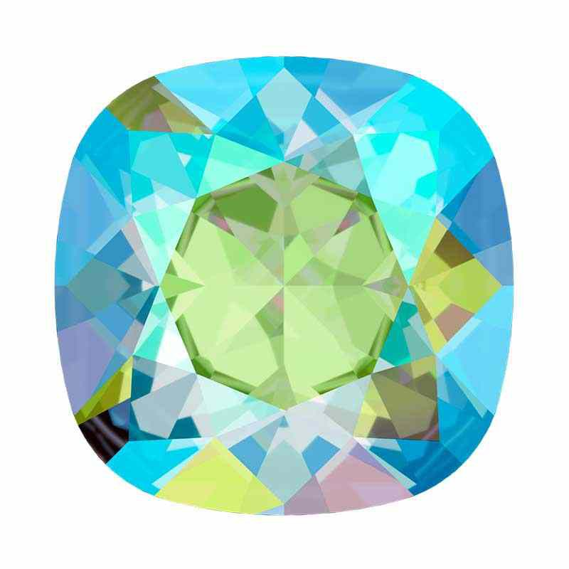 12mm 4470 Erinite Shimmer F (360 SHIM) Cushion Square Fancy Stone Swarovski