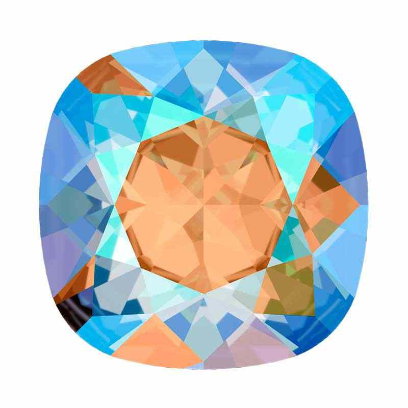 12mm 4470 Light Colorado Topaz Shimmer F (246 SHIM) Cushion Square Fancy Stone Swarovski