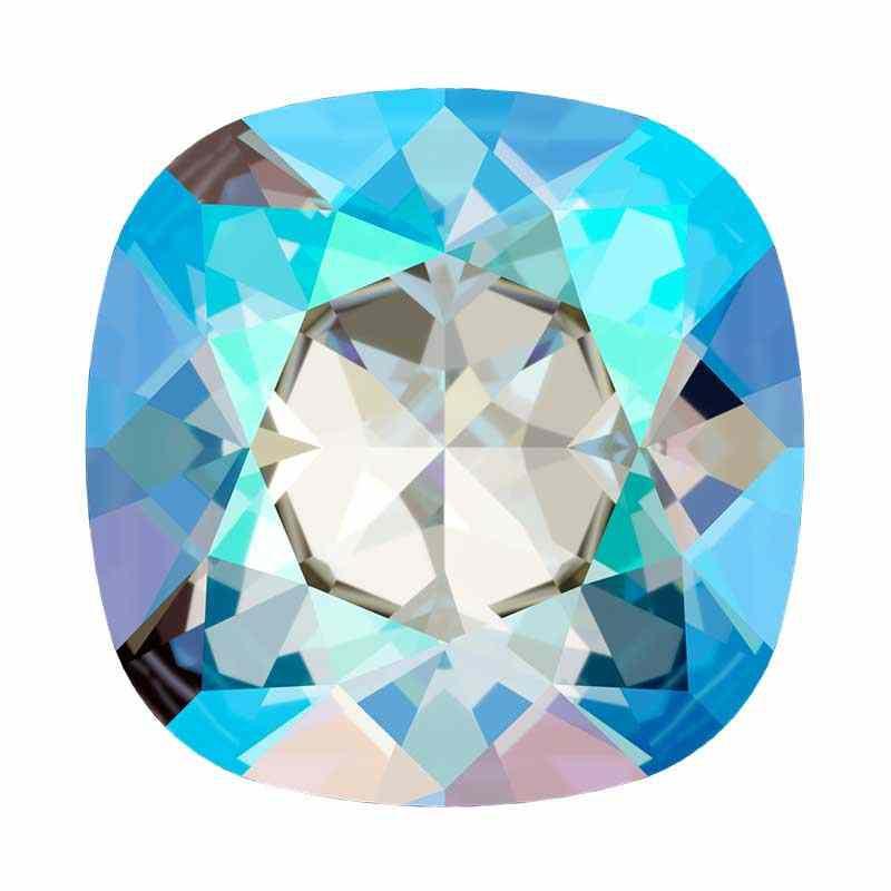 12mm 4470 Light Sapphire Shimmer F (211 SHIM) Подушкообразный Квадратный Кристалл для украшений Swarovski