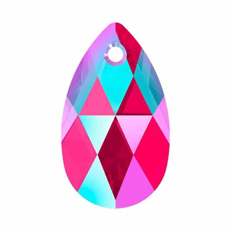 16MM Light Siam Shimmer (227 SHIM) 6106 Pear-shaped Pendants SWAROVSKI