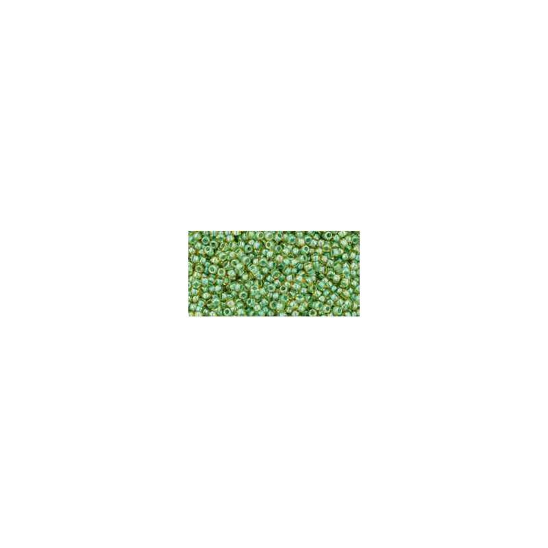TR-15-380 Inside-Color Topaz/Mint Julep Lined TOHO Rocaille