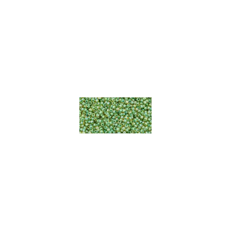 TR-15-380 Inside-Color Topaz/Mint Julep Lined TOHO Seed Beads