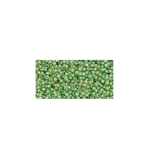 TR-15-380 Inside-Color Topaz/Mint Julep Lined TOHO Seed Beads