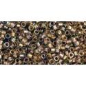 TT-01-998 Gold Lined Rainbow Light Jonquil TOHO Treasures Rocaille
