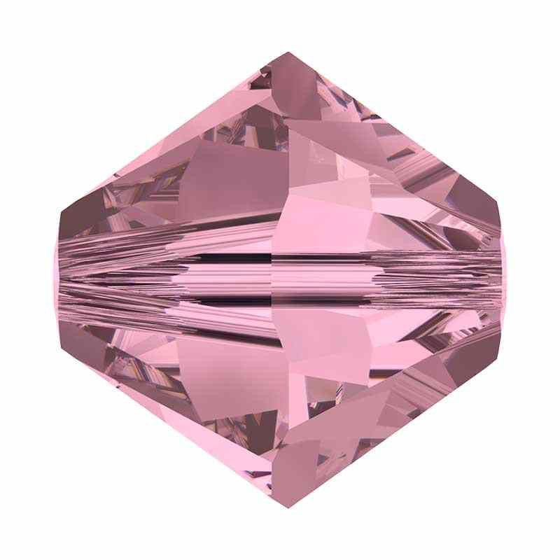 4MM Crystal Antique Pink 5328 XILION Bi-Cone Helmes SWAROVSKI