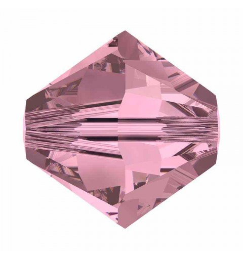 4MM Crystal Antique Pink 5328 XILION Bi-Cone Beads SWAROVSKI