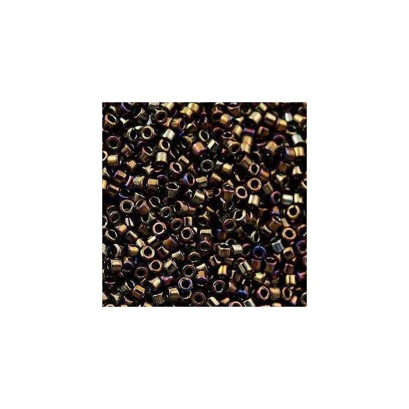 DB-0007 Metallic Brown Iris MIYUKI DELICA 11/0 seed beads