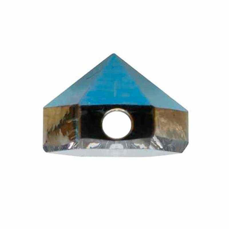 5.5MM Crystal Metallic Blue 5060 Spike Perles de Hexagon SWAROVSKI