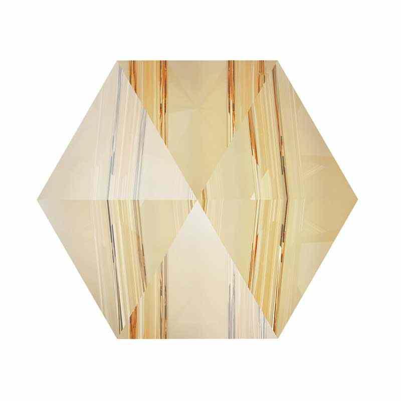 5.5MM Crystal Golden Shadow 5060 Hexagon Spike Beads SWAROVSKI