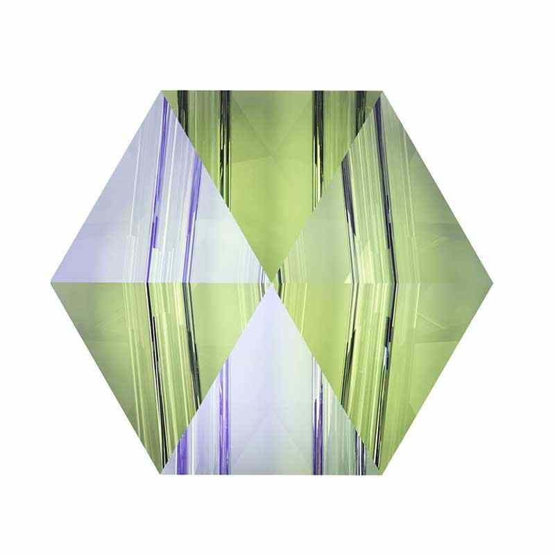 5.5MM Crystal Paradise Shine 5060 Hexagon Spike Beads SWAROVSKI