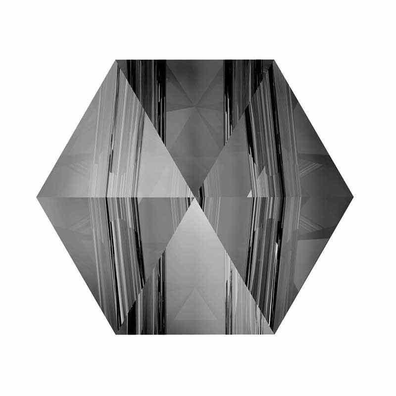 5.5MM Crystal Silver Night 5060 Hexagon Spike Beads SWAROVSKI