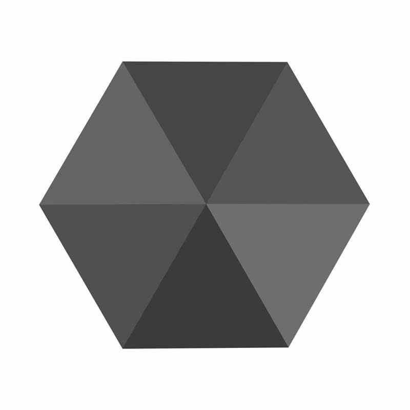 5.5MM Jet Hematite 5060 Hexagon Spike Helmes SWAROVSKI