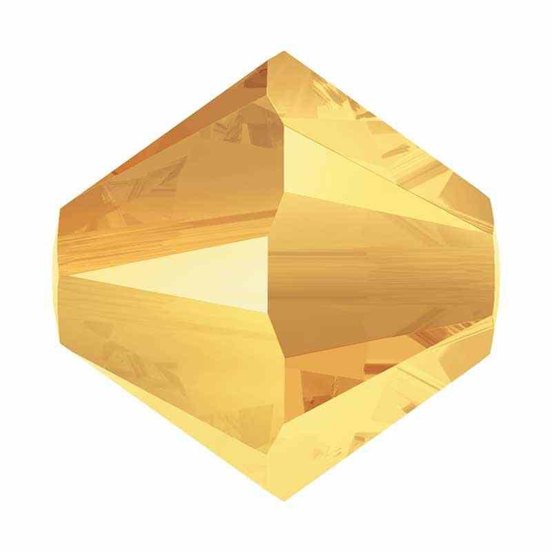 4MM Crystal Metallic Sunshine 2x 5328 XILION Bi-Cone Бусины SWAROVSKI