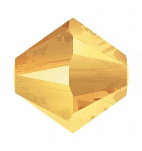 4MM Crystal Metallic Sunshine 2x 5328 XILION Bi-Cone Perles SWAROVSKI