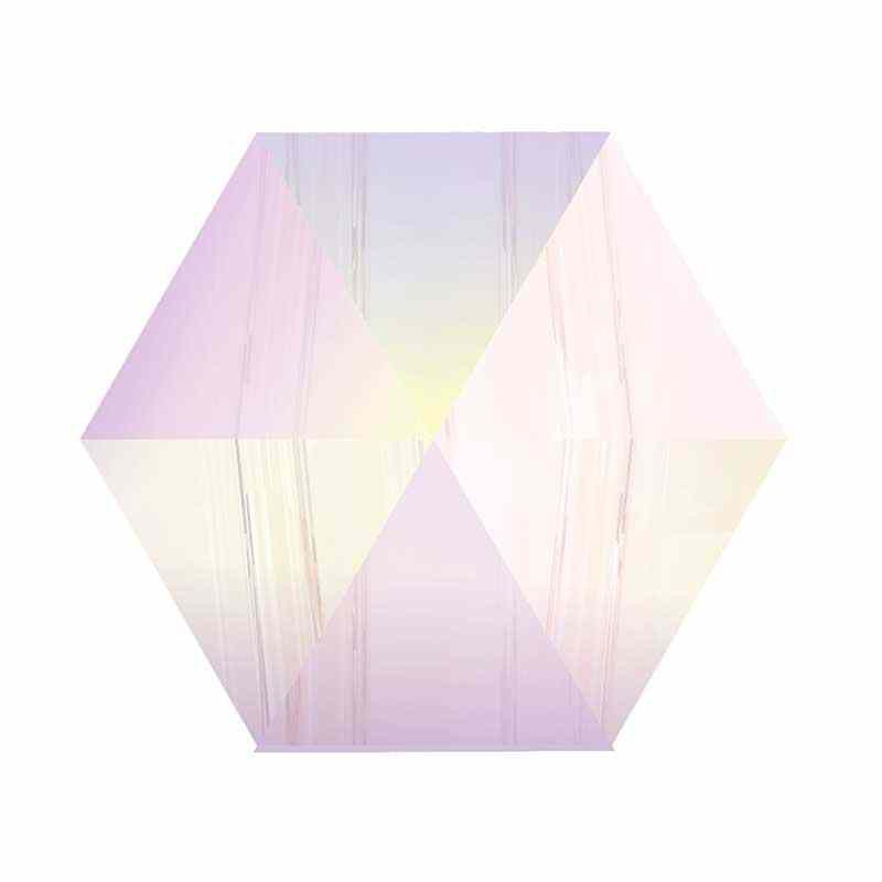 7.5MM Crystal AB (001 AB) 5060 Hexagon Spike Beads SWAROVSKI