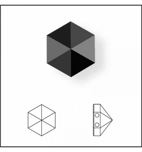 7.5MM Crystal Paradise Shine 5060 Hexagon Spike Beads SWAROVSKI