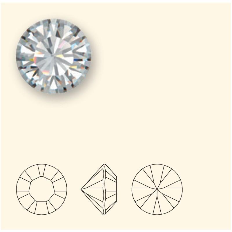 SS30 Crystal AB F (001 AB) 1028 Chaton SWAROVSKI ELEMENTS