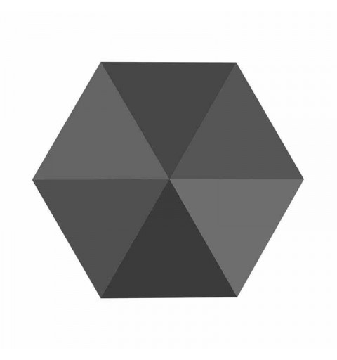 7.5MM Jet Hematite 5060 Spike Perles de Hexagon SWAROVSKI
