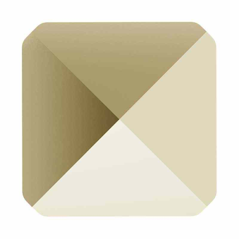 5.5MM Crystal Metallic Light Gold 5061 Square Spike Бусины SWAROVSKI