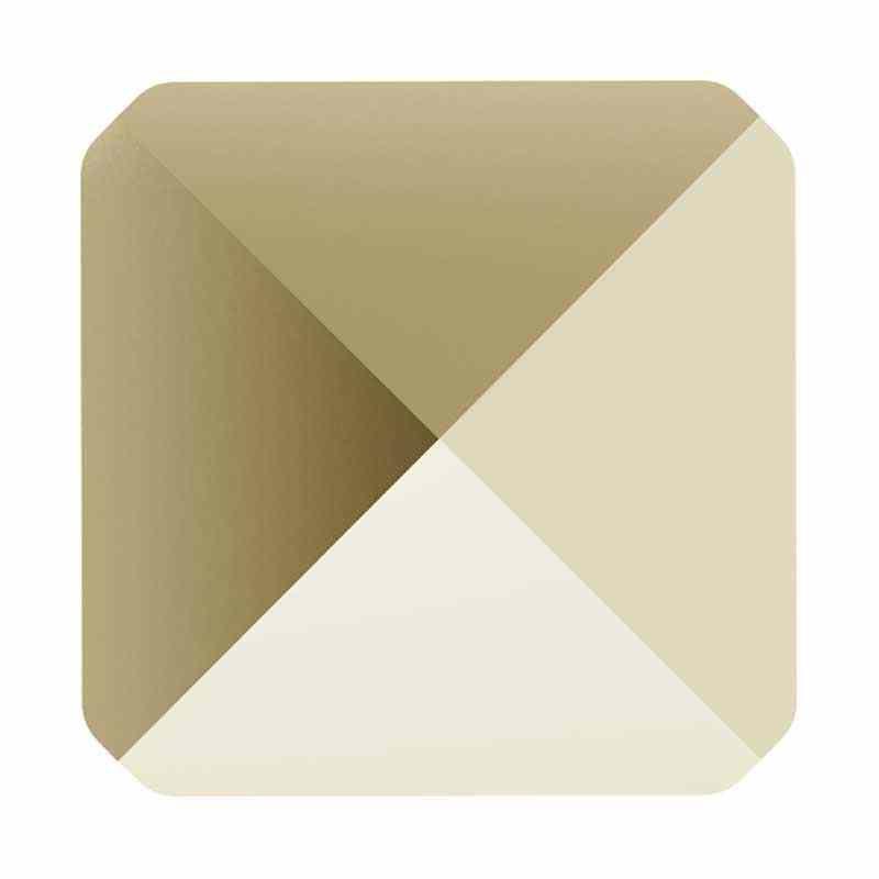 7.5MM Crystal Metallic Light Gold 5061 Square Spike Helmes SWAROVSKI