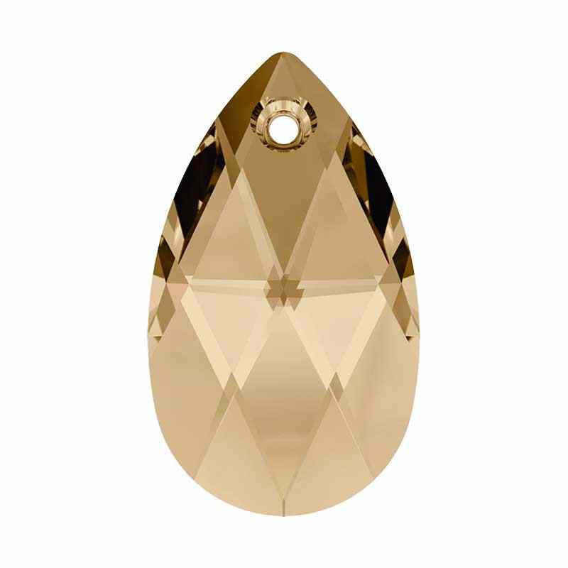 be7dbececec7c 22MM Crystal Golden Shadow Pendants 6106 Pear-shaped SWAROVSKI