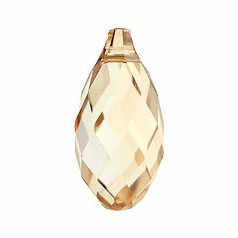 21x10.5MM Crystal Golden Shadow Briolette de Pendentif 6010 SWAROVSKI