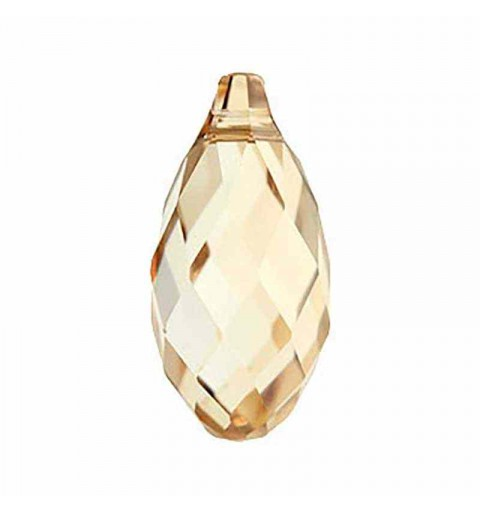 21x10.5MM Crystal Golden Shadow Briolette Pendant 6010 SWAROVSKI