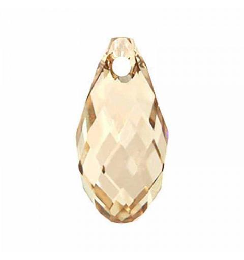 21x10.5MM Crystal Golden Shadow Briolette Pendant 6010 SWAROVSKI