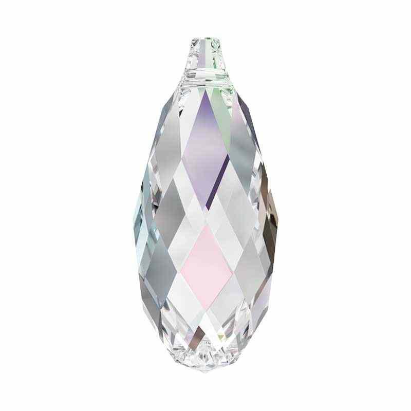 17x8.5MM Crystal AB Briolette Ripatsid 6010 SWAROVSKI