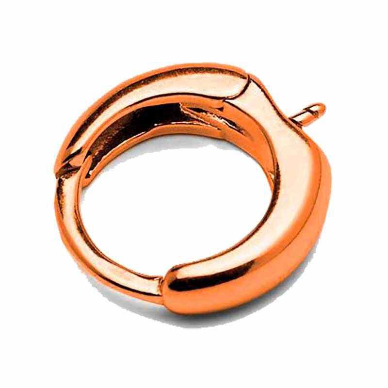 Серебрянная (Стерлинг) розовая позолоченая основа для серёжки со штифтом 15.6MM
