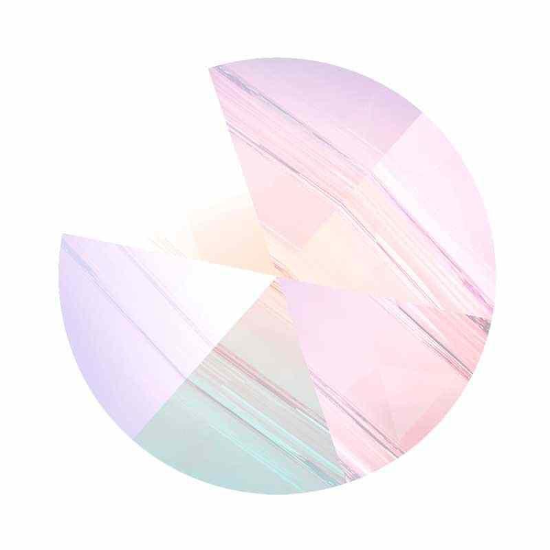 7.5MM Crystal AB 5062 Round Spike Бусины SWAROVSKI