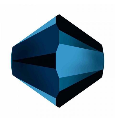 4MM Crystal Metallic Blue 2x 5328 XILION Bi-Cone Helmes SWAROVSKI