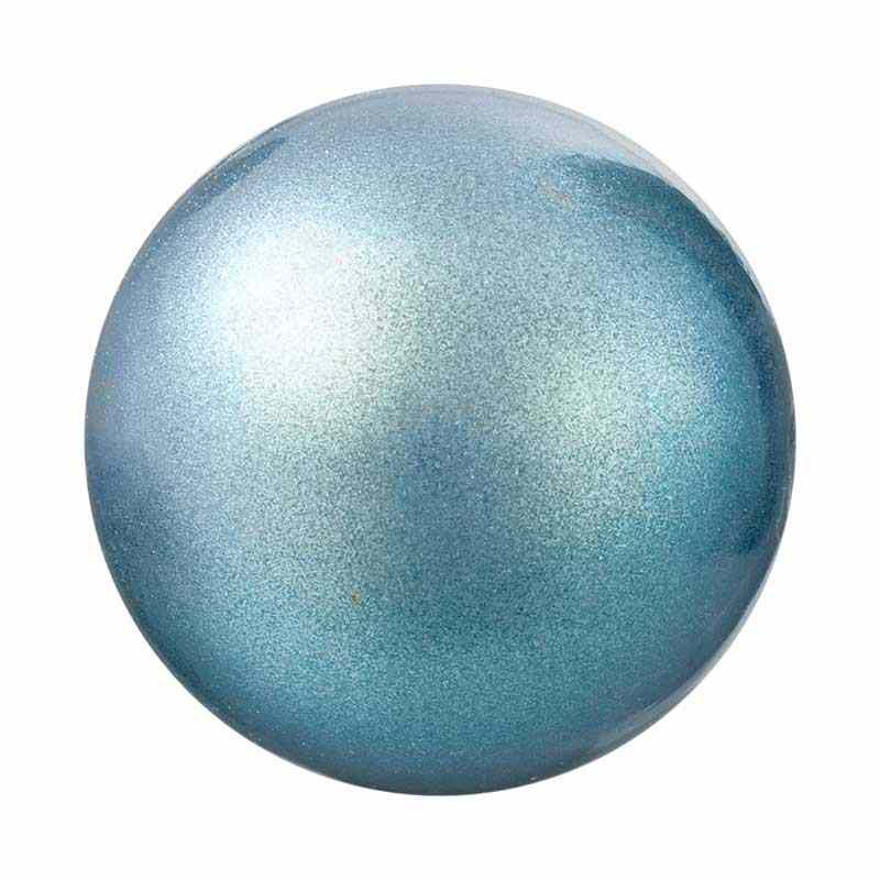 5MM Pearlescent Blue Pärlmutter Ümmargune Pärl Preciosa