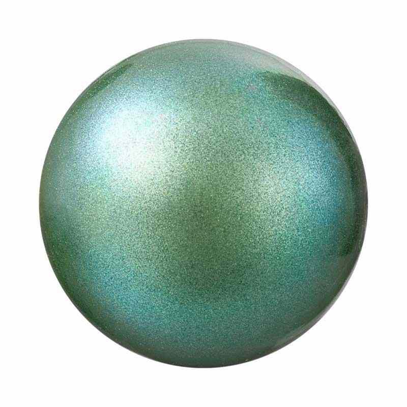 6MM Pearlescent Green Pärlmutter Ümmargune Pärl Preciosa